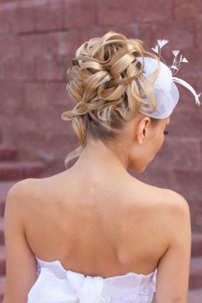 Back view of elegant wedding